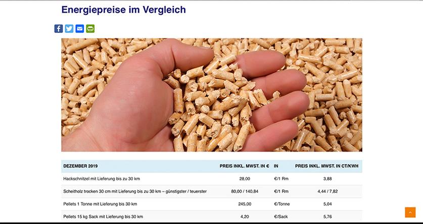 Energiepreise miteinander vergleichen